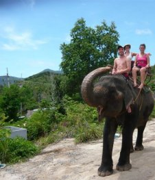 Cruising on an Elephant, Thailand